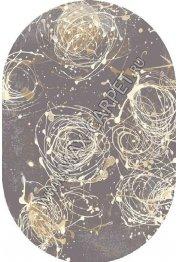 Польский ковер Agnella Kianta W graphite Oval
