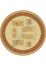 Шерстяной молдавский ковер Abstract Lavanda 234-1659 Круг