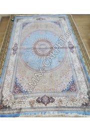 Ковер из шелка QUM 01204B blue