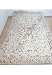 Индийский ковер ручной работы из шелк и шерсти Nihal 019 Cream