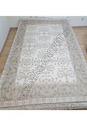 Индийский ковер ручной работы из шелк и шерсти Nihal 020 Cream grey