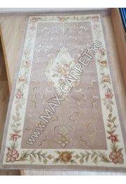 Индийский ковер ручной работы из шелк и шерсти Nihal 022 Grey