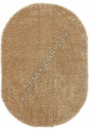 Длинноворсовый ковер Shaggy Ultra S600 — DARK BEIGE Oval
