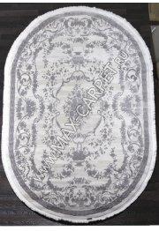 Турецкий ковер Truva 08330g grey Овал