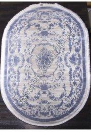 Турецкий ковер Truva 08330t blue овал