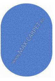 ковер длинноворсовый Shaggy Lazenie 00063A BLUE BLUE овал
