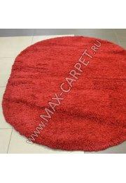 ковер длинноворсовый Shaggy Lazenie 00063A RED RED овал