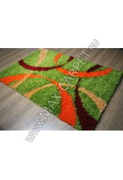 ковер длинноворсовый Shaggy Lazenie s178A green/orange