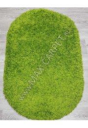 Турецкий ковер с длинным ворсом Shaggy Xxx 000063A OVAL GREEN / GREEN