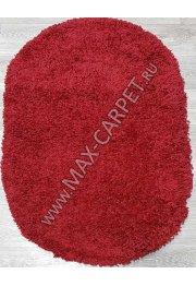 Турецкий ковер с длинным ворсом Shaggy Xxx 00063A OVAL RED / RED