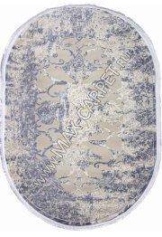 AMASYA 9020A — BEIGE / BLUE Oval