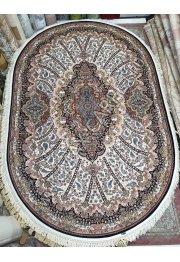 Иранский ковер с скидкой 35% Abrishim 1200 101 CREAM Овал