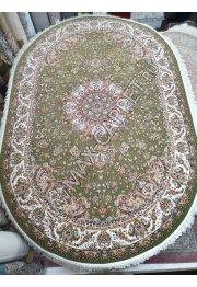 Иранский ковер с скидкой 35% Abrishim 1200 3804 Green Овал