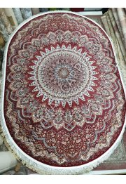 Российский ковер Shahreza D417 — RED Oval с скидкой 20 %