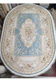 Турецкий ковер из акрила Lora 09003 Blue Овал с скидкой 20%