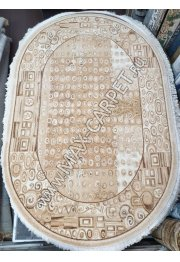 молдавский ковер с скидкой 25% из шерсти Floare-carpet 394 Oval