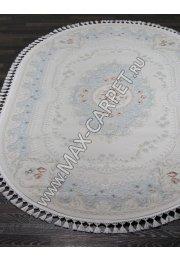 Турецкий ковер Hunkar 07926T — BLUE / BLUE Oval