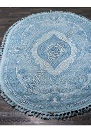 Турецкий ковер Hunkar 07931 — BLUE / BLUE Oval