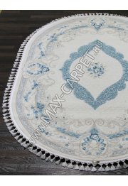 Турецкий ковер Hunkar 7921 — BLUE / BLUE Oval