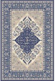 Польский ковер из шерсти Isfahan Leyla dark blue