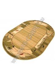 Польский ковер из синтетики Agnella Standard Standard Oval Erba chrome