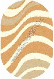 Длинноворсовый ковер Shaggy Ultra S607 — BEIGE oval