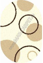 Длинноворсовый ковер Shaggy Ultra S610 — CREAM oval