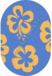 Длинноворсовый ковер Shaggy Ultra s605 — BLUE-YELLOW oval