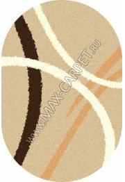 Длинноворсовый ковер Shaggy Ultra s606 — BEIGE oval