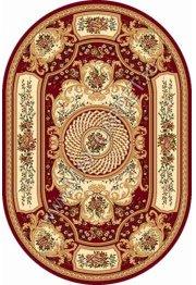 Российский ковер Buhara OLYMPOS d170 — RED Овал