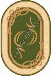 Российский ковер Buhara OLYMPOS  a704 — GREEN Овал