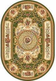 Российский ковер Buhara OLYMPOS d170 — GREEN Овал