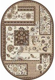Российский ковер VALENCIA DELUXE d248 — CREAM-BROWN — Овал