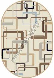 Российский ковер VALENCIA DELUXE d254 — CREAM-BROWN — Овал