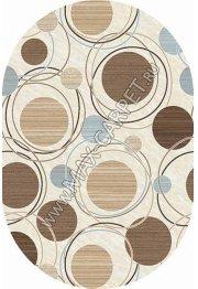 Российский ковер VALENCIA DELUXE d301 — CREAM-BROWN — Овал