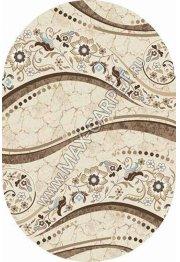 Российский ковер VALENCIA DELUXE d312 — CREAM-BROWN — Овал