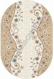 Российский ковер VALENCIA DELUXE d323 — CREAM-BROWN — Овал