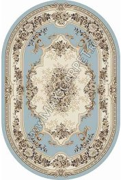 Российский ковер VALENCIA DELUXE 4015 — L.BLUE-BROWN — Овал