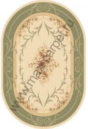 Молдавский шерстяной ковер Premium 25182-50643 ОВАЛ