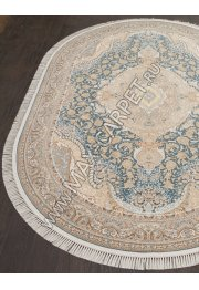 Иранский ковер из бамбука FARSI 1200 146 — LIGHT BLUE — Овал