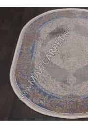 Турецкий ковер QATAR 33031 — 030 BLUE — Овал