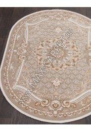 Турецкий ковер QATAR 33525 — 070 BEIGE — Овал