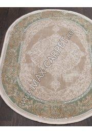 Турецкий ковер QATAR 33031 — 040 GREEN — Овал