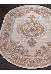 Турецкий ковер из бамбука SALVATORE 5401C — BEJ COKME / BEJ COKM — Овал