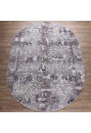 Турецкий ковер Kalahari дизайн W7212 цвет L.GREY / D.BEİGE Oval