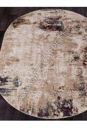 Турецкий ковер QUANTUM 03002B — BROWN / BROWN — Овал