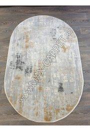 Турецкий ковер из акрила Arzu 3519A KREM / KREM Oval