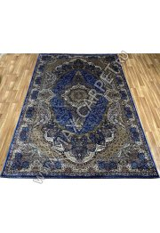 Турецкий ковёр шелковый QUM 2041-NAVY BLUE 9054