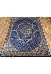 Турецкий ковёр шелковый QUM 2040C-NAV-BLUE 9062E