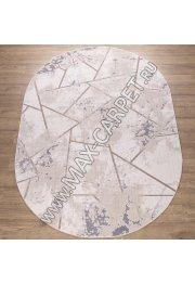 Турецкий ковер Kalahari W1518 цвет CREAM / BEIGE Oval